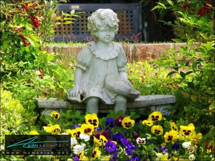 مجسمه های محوطه - چگونه حیاط منزل خود را با ایده های ساده و ارزان قابل استفاده کنیم؟