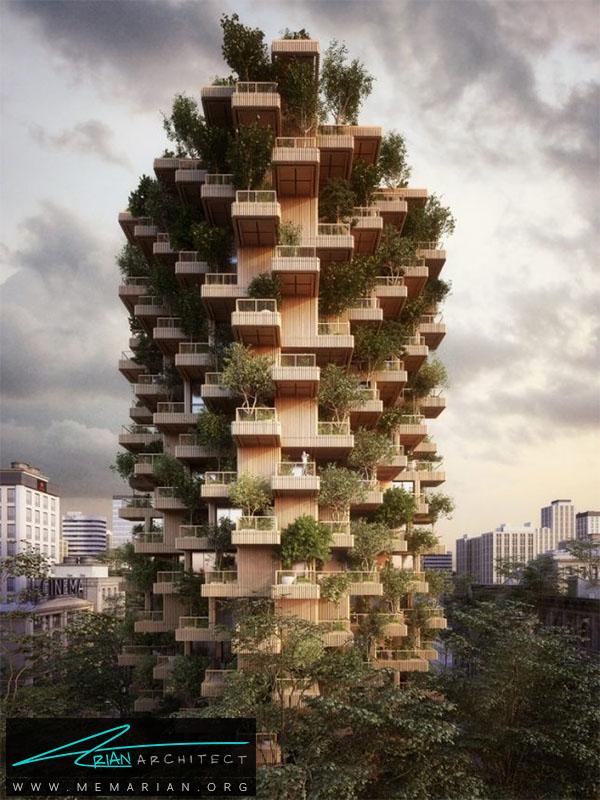 برج درختی درتورنتو- برج چوبی