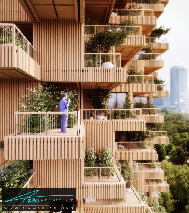 برج درختی درتورنتو - برج چوبی