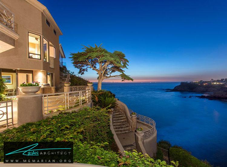 خانه ی ساحل لاگونا در کالیفرنیا - 10 منظره زیبا از مرتفع ترین خانه های جهان