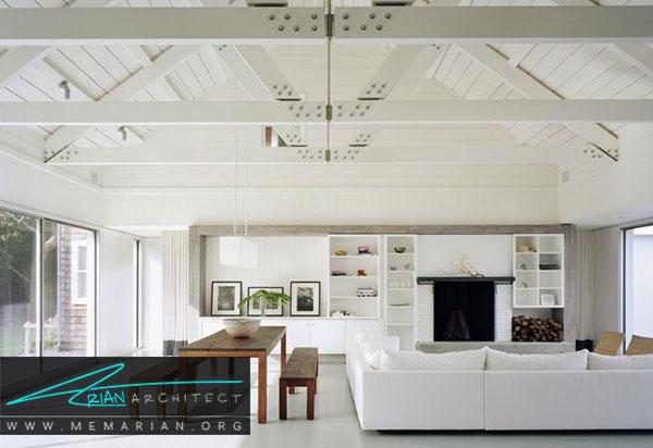 دکوراسیون سفید در خانه- رنگ سفید در دکوراسیون و سبک مدرن
