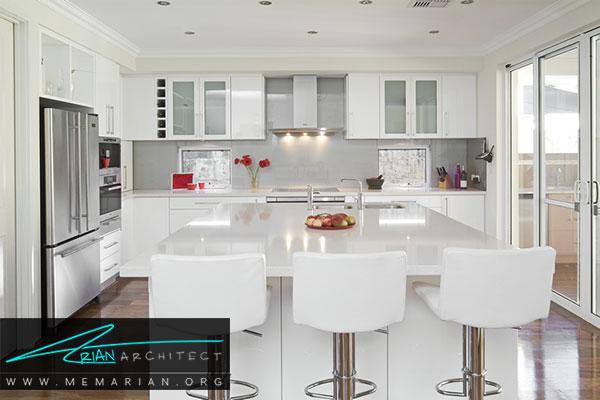 دکوراسیون سفید در خانه- چگونگی استفاده مناسب از رنگ سفید در دکوراسیون آشپزخانه