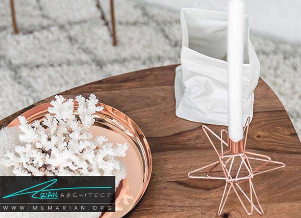 دکوراسیون سفید در خانه- استفاده از رنگ سفید در دکوراسیون با لوازم تزیینی