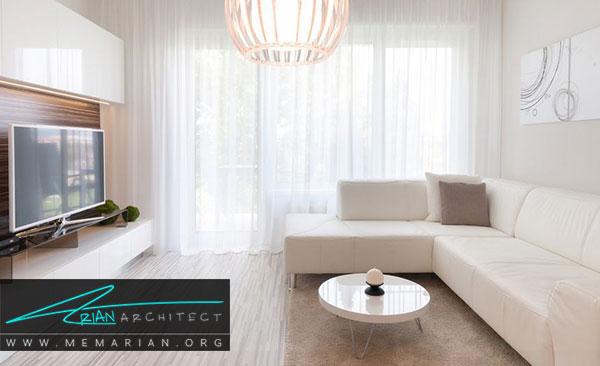 دکوراسیون سفید در خانه- چگونگی استفاده از تناژهای متنوع رنگ سفید در دکوراسیون