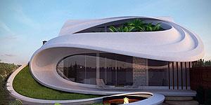 طراحی معماری و نمای ساختمان مسکونی در سیرجان