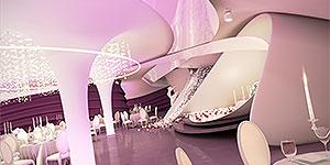 طراحی معماری داخلی و دکوراسیون داخلی تالار عروسی آذر شهر