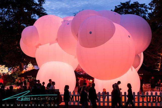 معماری غرفه اسکام توسط گروه Bjarke Ingels / BIG - سازه حبابی