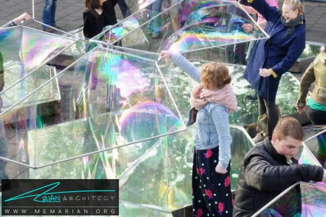 معماری سازه حبابی واقعی توسط معماران DUS - سازه حبابی