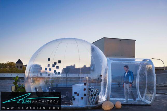 اتاق حبابی شفاف - سازه حبابی