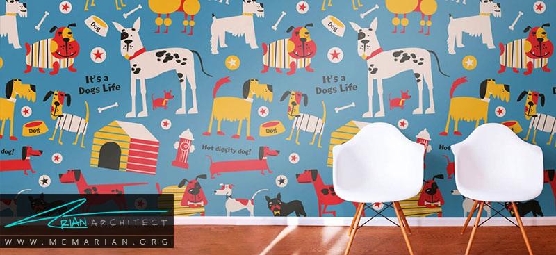 همه چیز درباره کاغذ دیواری اتاق کودک و پوستر دیواری اتاق کودک (2)