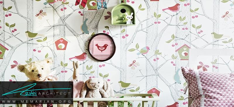 همه چیز درباره کاغذ دیواری و پوستر دیواری اتاق کودک (8)