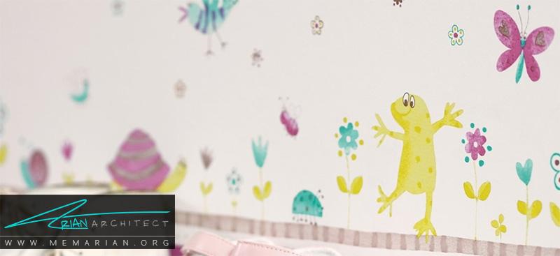 همه چیز درباره کاغذ دیواری و پوستر دیواری اتاق کودک (10)