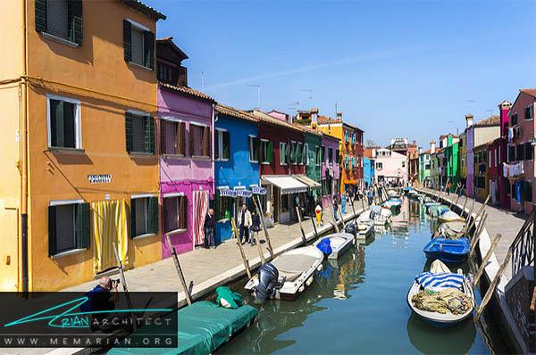 محله بورانو، ونیز - محله های رنگارنگ