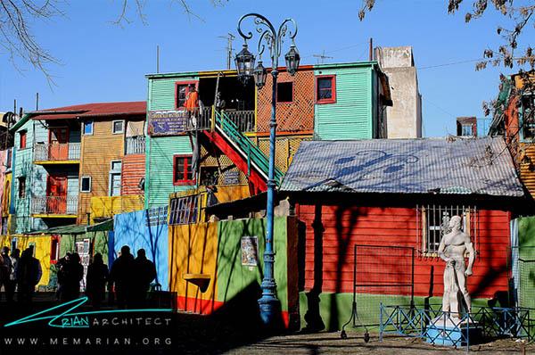 منطقه کامینیتو بوئنوس آیرس، آرژانتین - محله های رنگارنگ