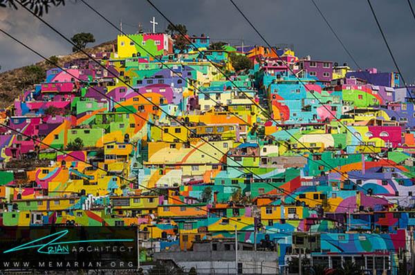 محله رنگارنگ پاچوکا، مکزیک - محله های رنگارنگ