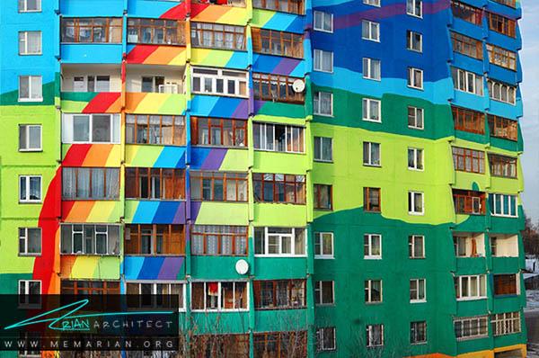 آپارتمان های محله ریمنسکوی ، مسکو - محله های رنگارنگ