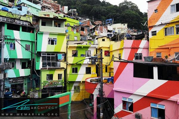 سانتا مارتا - ریودوژانیرو، برزیل - محله های رنگارنگ