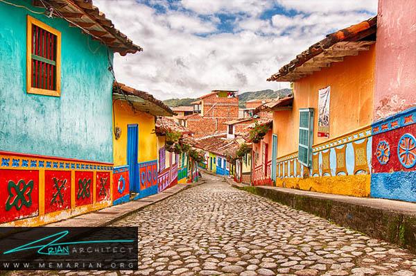 محله گواتاپه، کلمبیا - محله های رنگارنگ