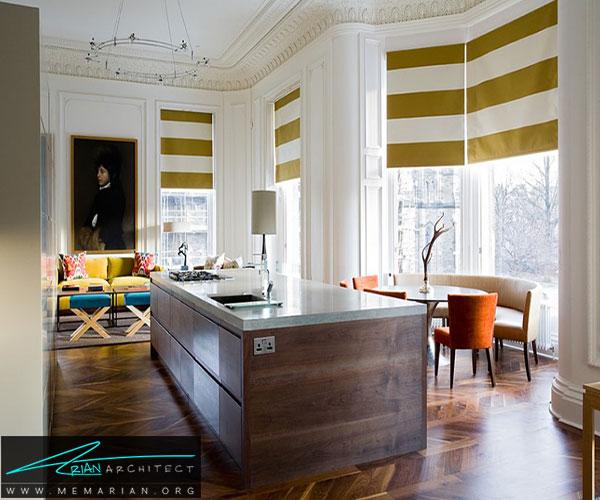رنگها و الگوهای را انتخاب کنید - تزئین پنجره با پرده