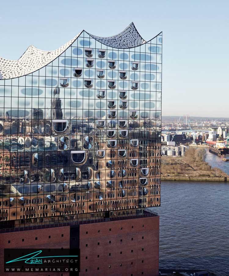 نمای ساختمان البفیل هارمونیک در هامبورگ - 10 ساختمان مدرن با نمای خیره کننده