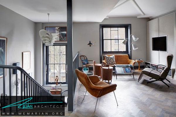 مطابقت رنگ خاکستری با کارهای چوبی - قاب پنجره خاکستری