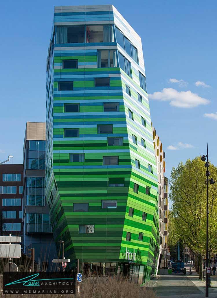 نمای هتل هیپارک در پاریس - 10 ساختمان مدرن با نمای خیره کننده