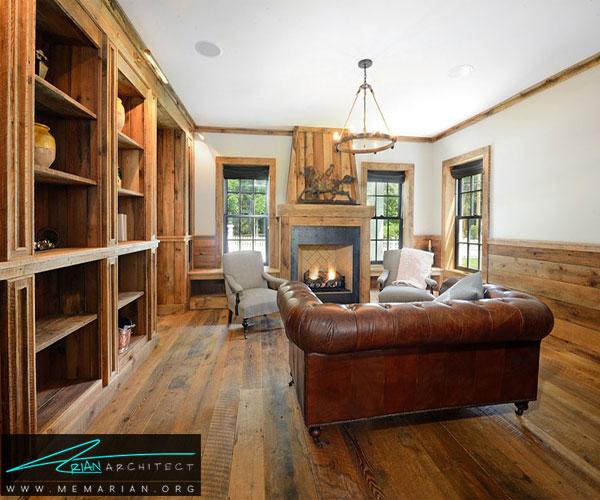 استفاده از چوب بلوط به سبک طراحی سنتی - طراحی کابینت اشپزخانه