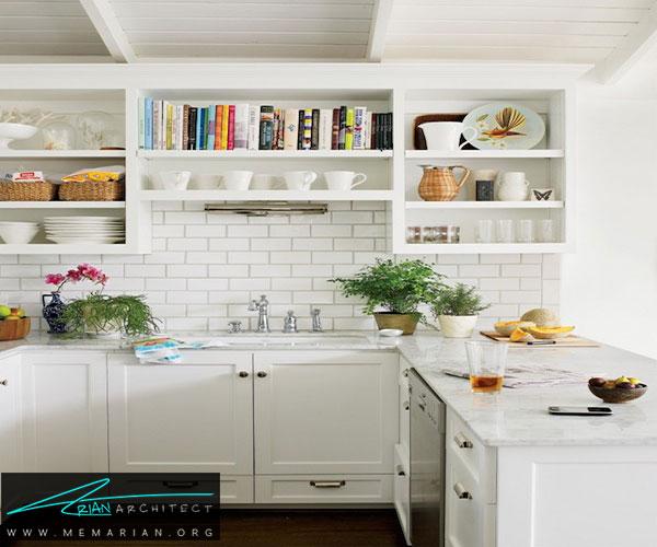 از قفسهبندی باز - طراحی کابینت آشپزخانه