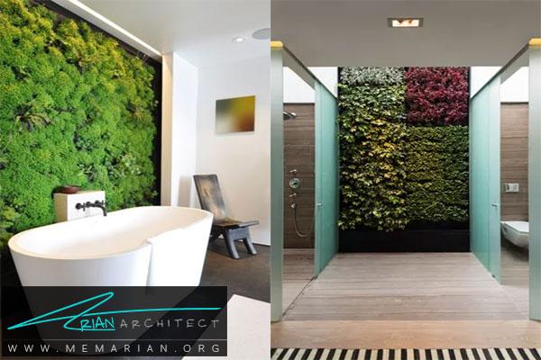 ایجاد نمای خارجی در داخل خانه - دیوار زنده