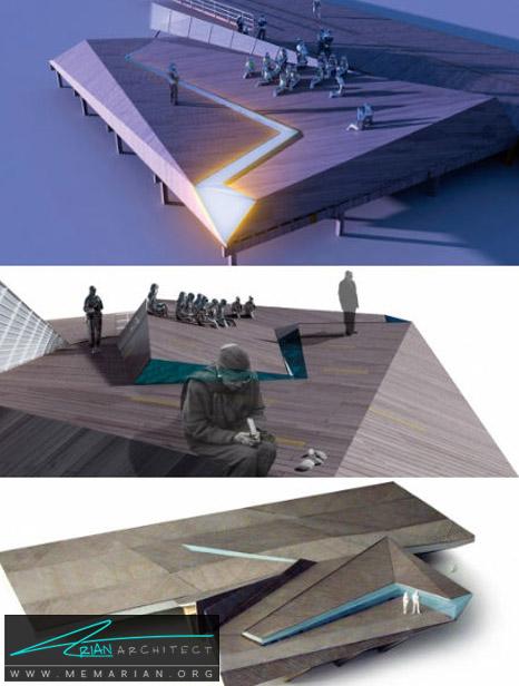 یادبود هولوکاست در اقیانوس اطلس- معماری بنای یادبود