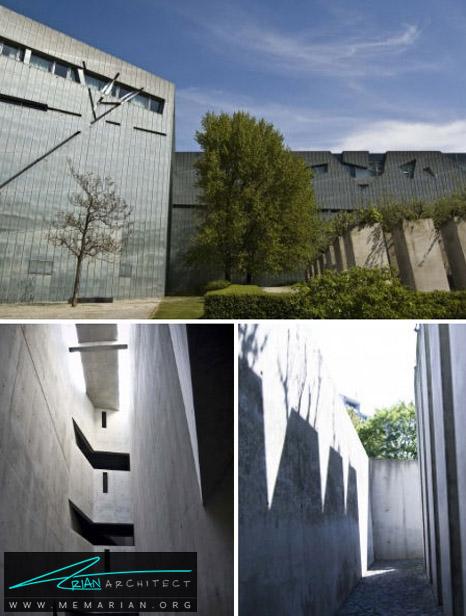 معماری یابود موزه یهودی توسط دانیل لیبسکیند، برلین- معماری بنای یادبود