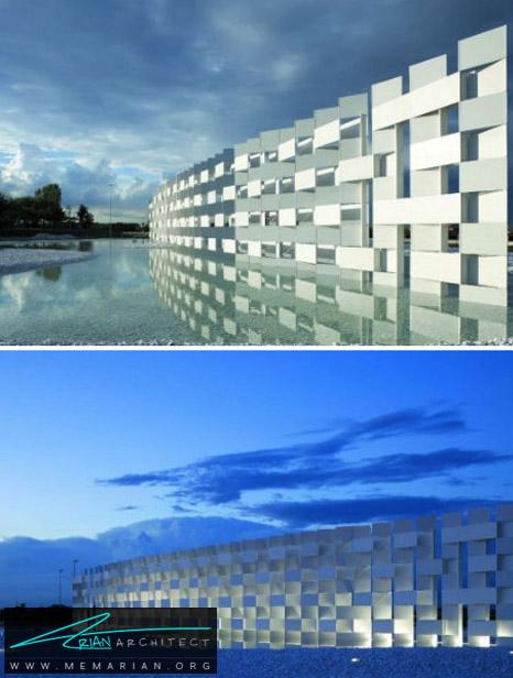 پروژه ابرهای CC توسط کنگو کوما، ایتالیا- معماری بنای یادبود