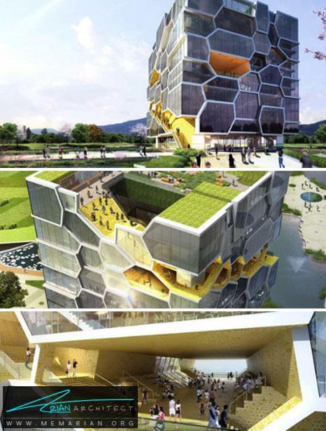 یادبود سازمان ملل توسط ACME، کره جنوبی - معماری بنای یادبود