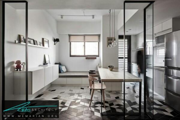 بازسازی یک آپارتمان دنج در تایوان در سبک مینیمال - بازسازی مدرن ساختمان