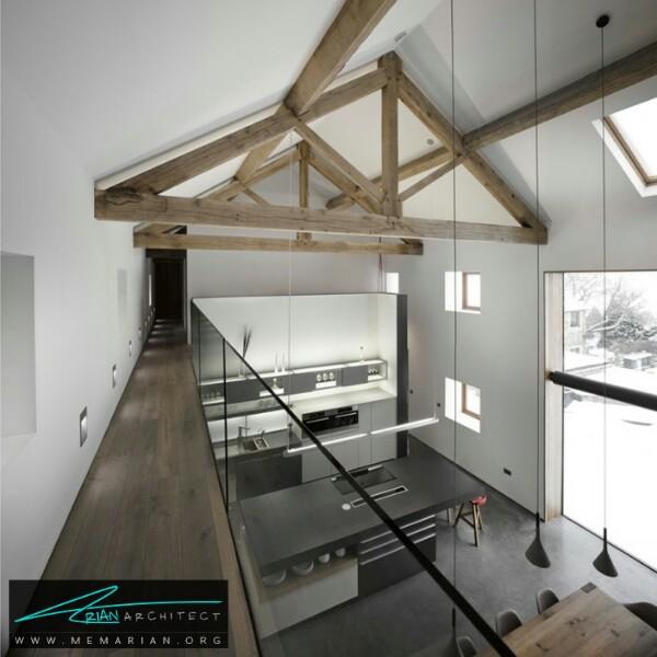 بازسازی مدرن ساختمان یک انبار قدیمی و تبدیل آن به خانه -بازسازی مدرن ساختمان
