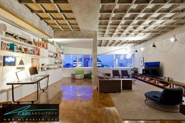 بازسازی آپارتمان قدیمی ۱۹۵۰ میلادی در سبک امروزی و مدرن - بازسازی مدرن ساختمان