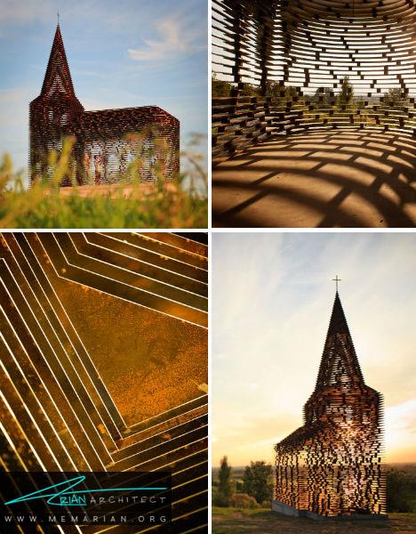 معماری کلیسا مدرن توسط Gijs Van Vaerenbergh, بلژیک - معماری کلیسا مدرن