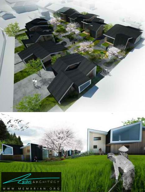 پیشنهاد ساخت مجتمع IN-GAWA توسط ایندکس - طراحی مدرن خانه های ژاپنی