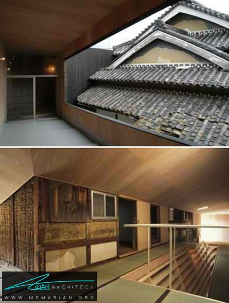 خانه جشن سالگرد 300 ساله که با یک ساختمان مدرن ادغام شده است - طراحی مدرن خانه های ژاپنی