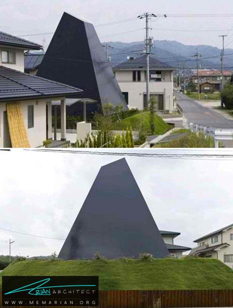 بنای مدرن مثلثی (هرمی) فوق العاده - طراحی مدرن خانه های ژاپنی