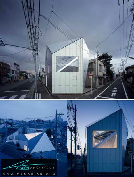 معماری یک خانه مدرن در فوکویاما - طراحی مدرن خانه های ژاپنی