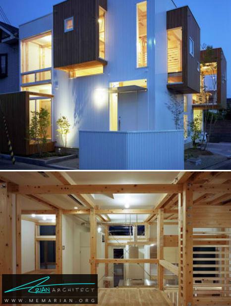 معماری خانه ABE توسط UAO - طراحی مدرن خانه های ژاپنی