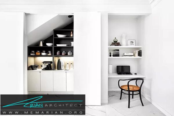 حداکثراستفاده از زیر پله ها - فضای بیشتر در خانه