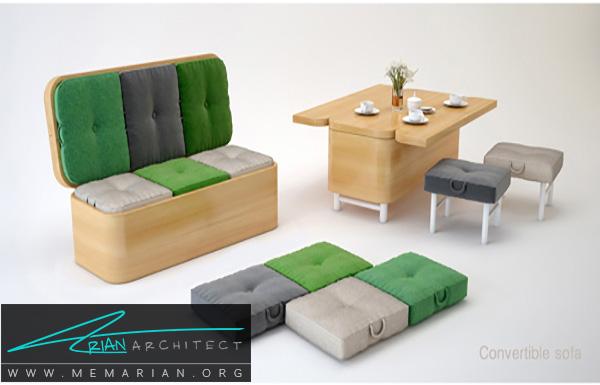 استفاده از مبلمان و وسایل چندمنظوره - فضای بیشتر در خانه