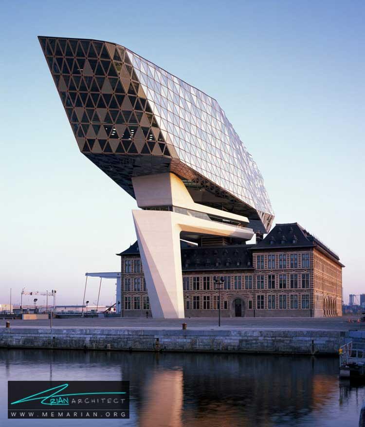 نمای خانه پورت بندرآنتورپ - 10 ساختمان مدرن با نمای خیره کننده