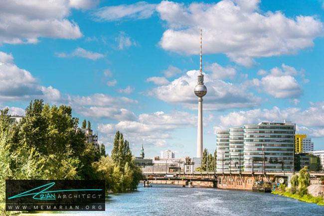 برج تلویزیونی Fernsehturm در برلین - 30 مورد از زشت ترین آسمان خراش ها در جهان