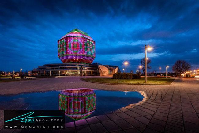کتابخانه ملی بلاروس در شهر مینسک - 30 مورد از زشت ترین آسمان خراش ها در جهان