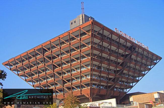 ساختمان رادیو اسلواکی در براتیسلاوا - 30 مورد از زشت ترین آسمان خراش ها در جهان