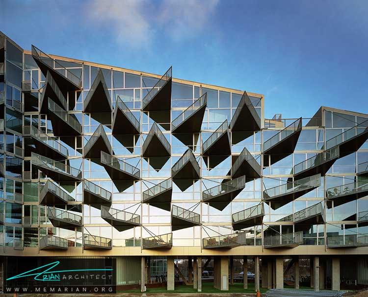 نمای خانه های VM در کپنهاگ - 10 ساختمان مدرن با نمای خیره کننده