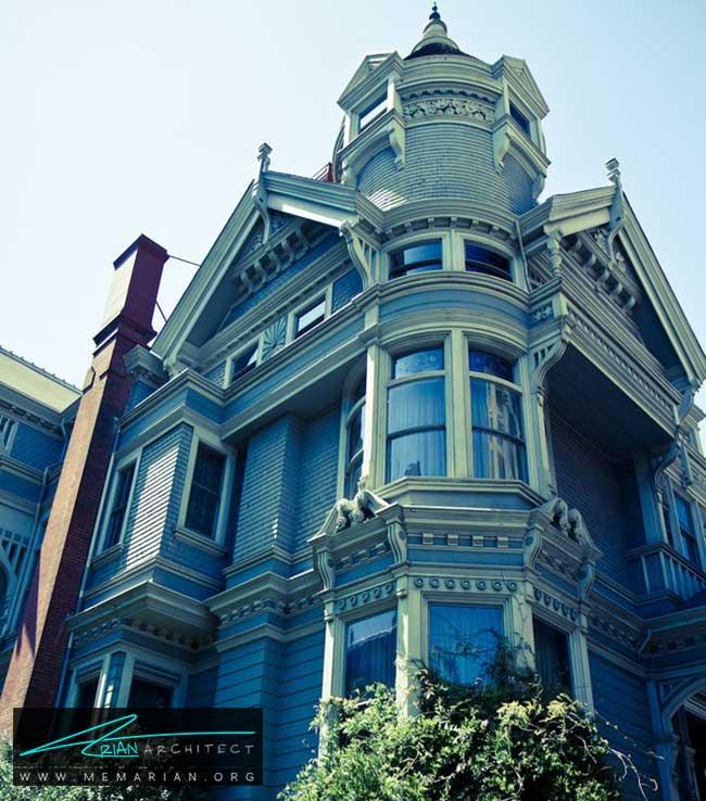خانه هاز لیلینتال - 5 نمونه از بهترین ساختمان ها با معماری سبک ویکتوریا در سان فرانسیسکو